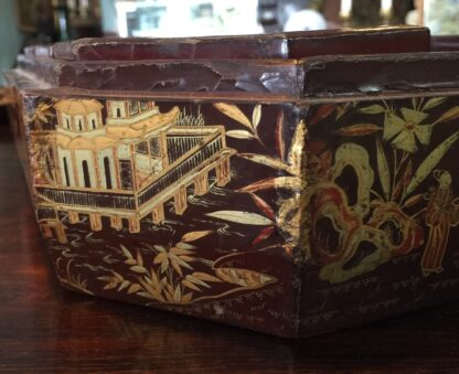 Chinese lacquer games box, fitted interior, c.1830 -9366