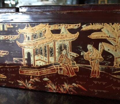 Chinese lacquer games box, fitted interior, c.1830 -9367