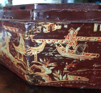 Chinese lacquer games box, fitted interior, c.1830 -9370