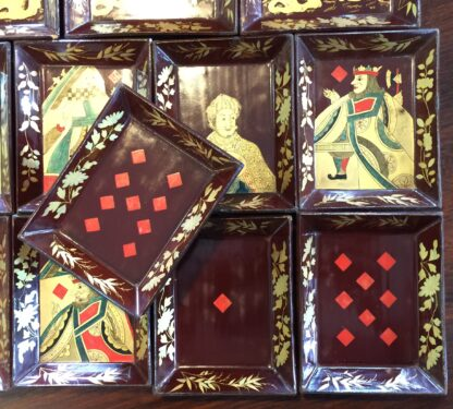 Chinese lacquer games box, fitted interior, c.1830 -9378