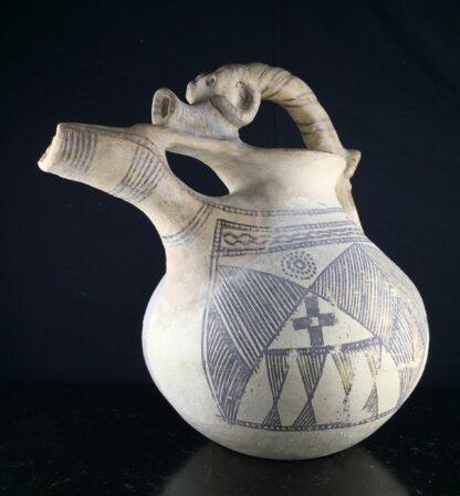 Iranian buffware zoomorphic vessel, 8th-7th century BC -9442