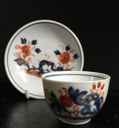 Doccia cup & saucer, Imari garden pattern, c. 1760 -10222