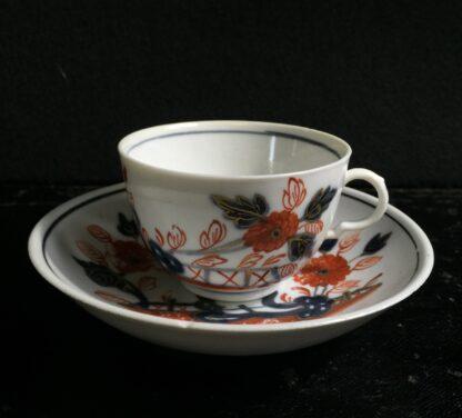 Doccia cup & saucer, Imari garden pattern, c. 1760 -0