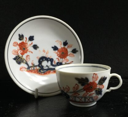 Doccia cup & saucer, Imari garden pattern, c. 1760 -10225