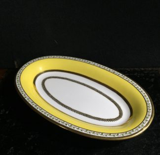 Sevres serving dish, yellow ground, dated 1824 -0