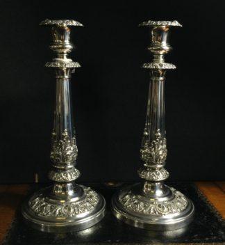 Pair of Old Sheffield Plate candle sticks, Matthew Boulton c.1816-0
