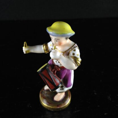 Rockingham? miniature figure of a drummer girl, c. 1830 -1529