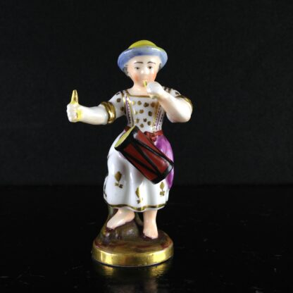 Rockingham? miniature figure of a drummer girl, c. 1830 -0