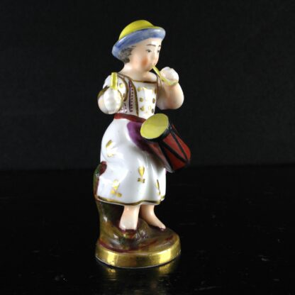 Rockingham? miniature figure of a drummer girl, c. 1830 -1532