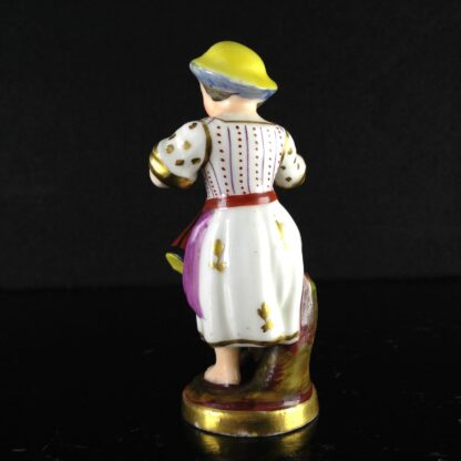 Rockingham? miniature figure of a drummer girl, c. 1830 -1534