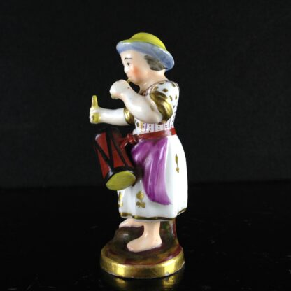 Rockingham? miniature figure of a drummer girl, c. 1830 -1536