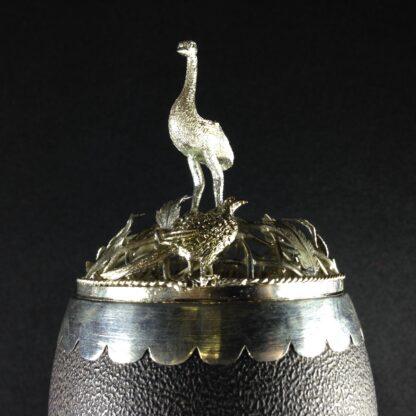 Australian silver mounted emu egg, 19th century -1646