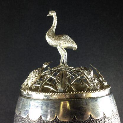 Australian silver mounted emu egg, 19th century -1649