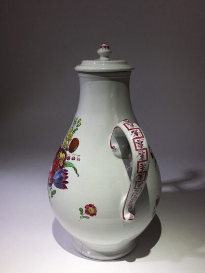 Doccia coffee pot with birds head spout, flower painted, c. 1765 -29022