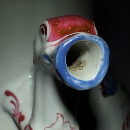 Doccia coffee pot with birds head spout, flower painted, c. 1765 -29027
