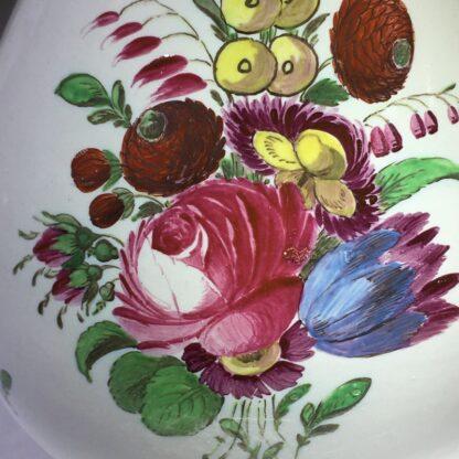 Doccia coffee pot with birds head spout, flower painted, c. 1765 -29028
