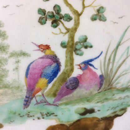 Worcester scalloped rim cabinet plate, exotic birds, Davis, c.1780 -826