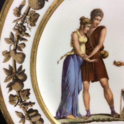 Paris porcelain plate, Neoclassical figures c.1820 -802