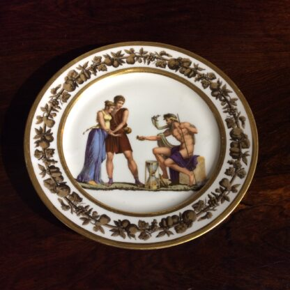 Paris porcelain plate, Neoclassical figures c.1820 -801