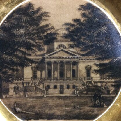 Paris porcelain plate, view of Chiswick House, Earl of Middlesex, c.1820 -777