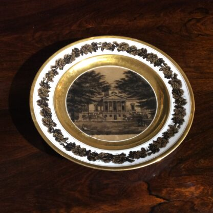 Paris porcelain plate, view of Chiswick House, Earl of Middlesex, c.1820 -780