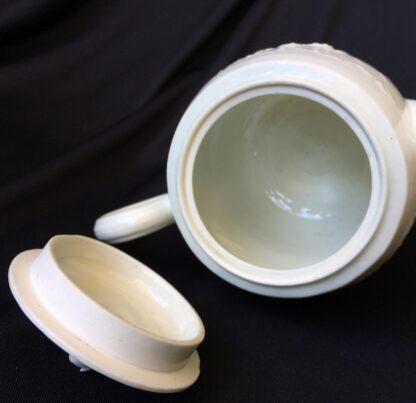 Worcester barrel shape teapot, rare Chinese Landscape pattern, c.1760 -20034