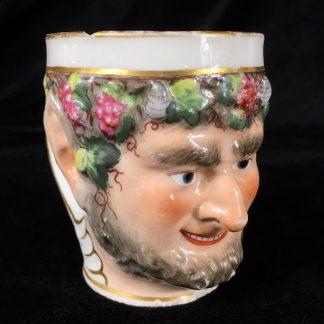 Derby bachus-head mug, C. 1800 -0