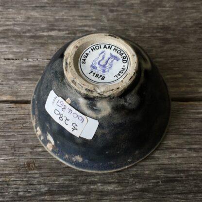 Hoi An Shipwreck: Vietnamese deep blue glaze wine cup, C. 1480. -29835