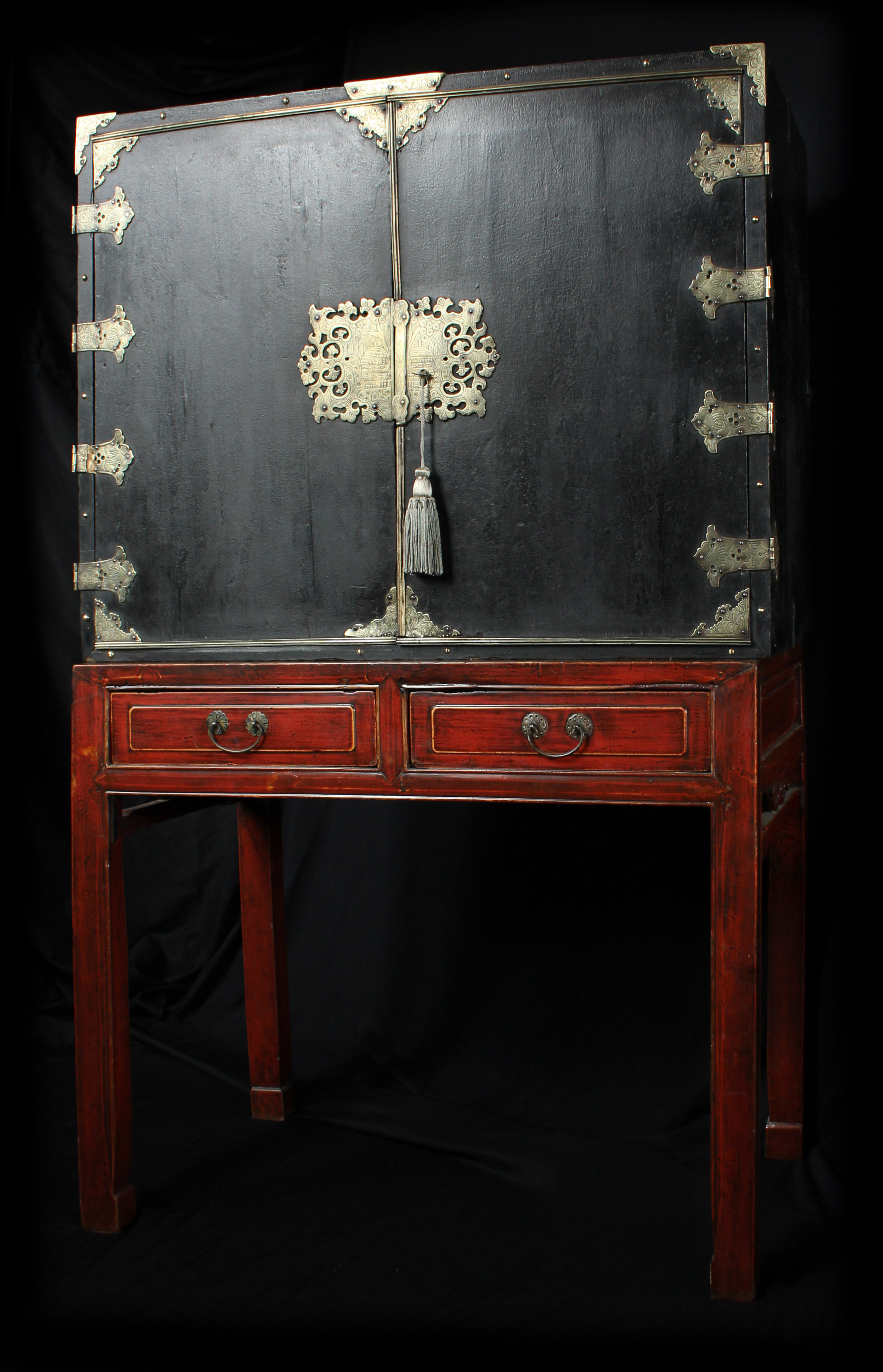 European Chinoiserie Black Lacquer Chest On Later Stand C 1700 0