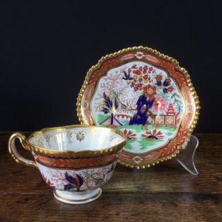 Flight Barr & Barr Worcester cup & saucer, circa 1810 -0