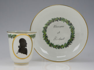 Vienna coffee cup & saucer, profile silhouette, c.1790 -0