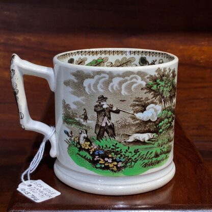 Cork, Edge & Malkin mug, 'Field Sports' prints, c.1860-71-0