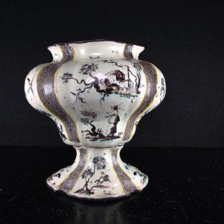 Large Italian faience vase, chinoiseries & italianate landscapes, Levantino c. 1710 -0