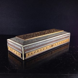 Anglo - Indian Oblong Box, Sadeli work, 19th century-0