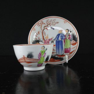 Newhall style teabowl & saucer, Chinese Family, c.1805 -0
