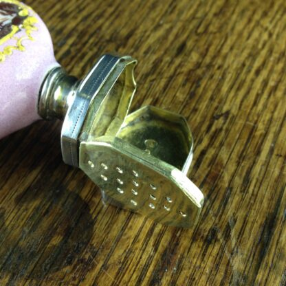 English enamel & sterling scent & vinaigrette, c. 1808 -2234