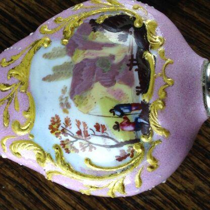 English enamel & sterling scent & vinaigrette, c. 1808 -2238