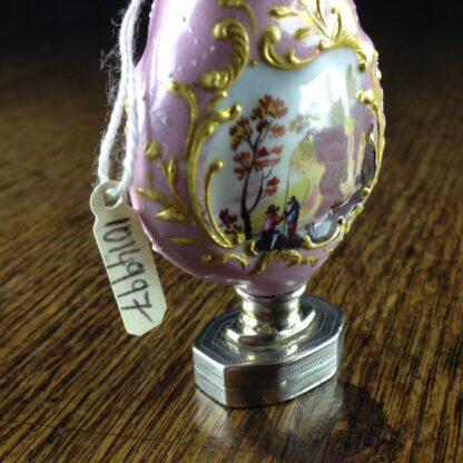 English enamel & sterling scent & vinaigrette, c. 1808 -2245
