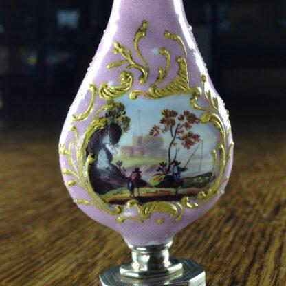 English enamel & sterling scent & vinaigrette, c. 1808 -2249