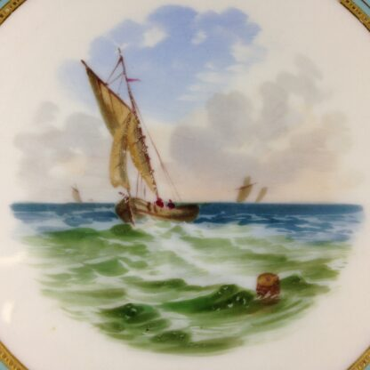 Wedgwood Bone China Plate, shipping scene, C. 1870 -2352