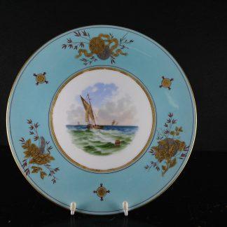 Wedgwood Bone China Plate, shipping scene, C. 1870 -0