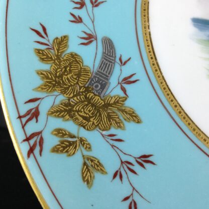 Wedgwood Bone China Plate, shipping scene, C. 1870 -2354