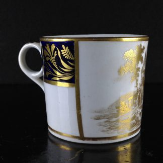 New Hall coffee can, Warburton gilt print, c.1805. -0