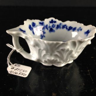 Worcester Butter Boat, blue daisy pattern, c.1756 -0