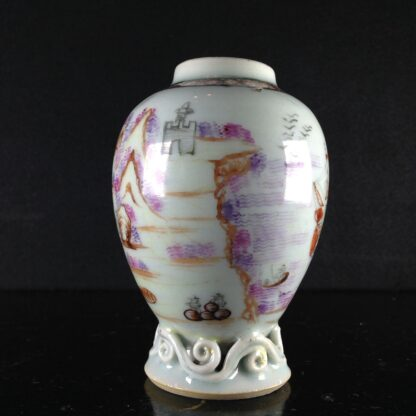 Chinese export tea canister with ship, c. 1760-2578