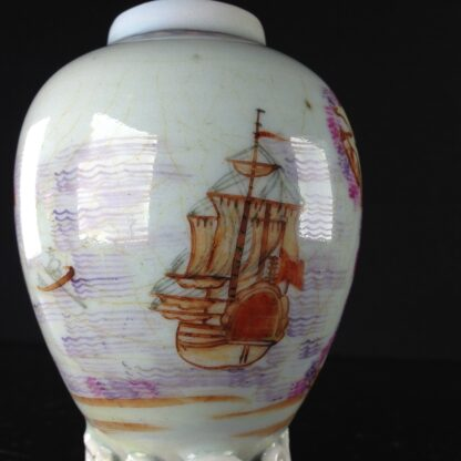 Chinese export tea canister with ship, c. 1760-2585