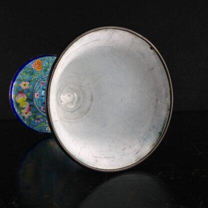 Chinese enamel goblet, lotus form, circa 1770 -2599