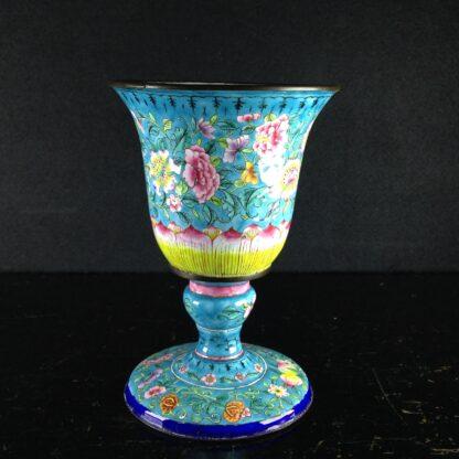 Chinese enamel goblet, lotus form, circa 1770 -0