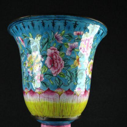 Chinese enamel goblet, lotus form, circa 1770 -2602