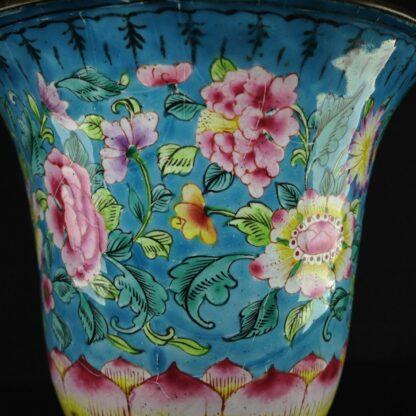 Chinese enamel goblet, lotus form, circa 1770 -2604
